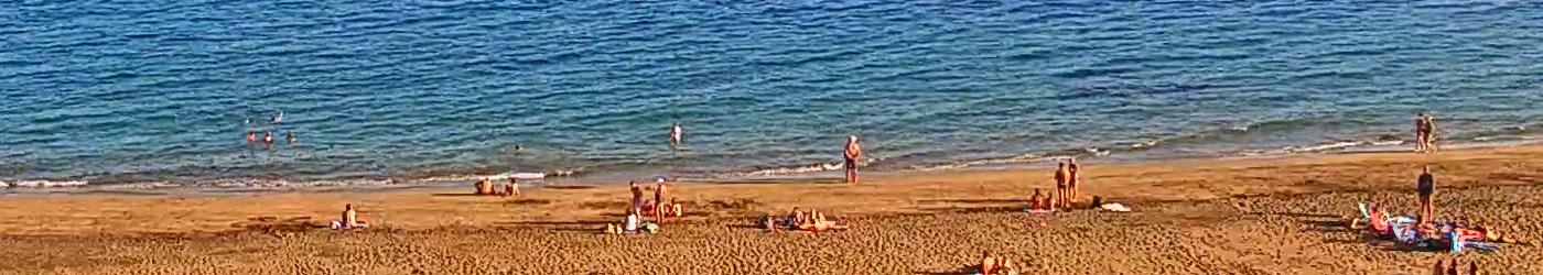 Bathers in Puerto del Carmen Beach