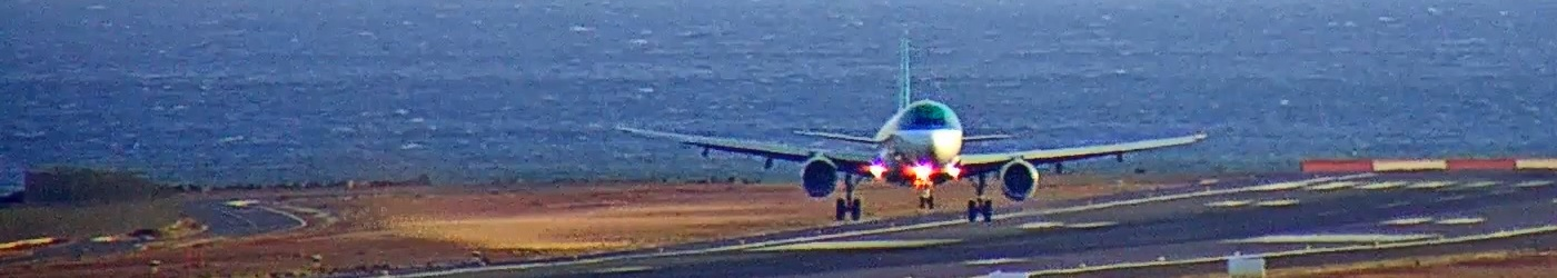 Air Lingus Landing in Lanzarote Airport with cross wind