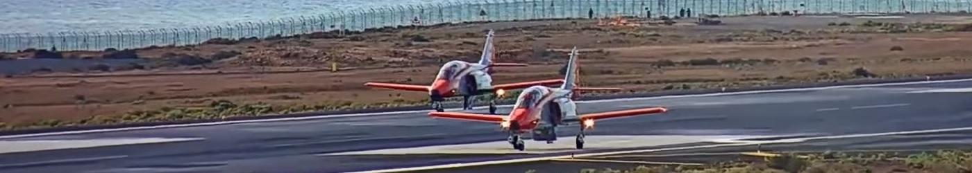 Casa C101 AvioJet landing in Lanzarote Airport